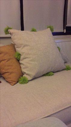 Change it! Diy pon pon ponpon pillow handmade