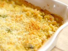 Get Broccoli Cheese Mac 'n' Cheese Recipe from Food Network (macaroni and cheese casserole with sausage) Macaroni And Cheese Casserole, Casserole Recipes, Broccoli Casserole, Casserole Dishes, Pasta Dishes, Food Dishes, Side Dishes, Main Dishes, Brocoli And Cheese