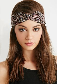 Twisted Abstract Print Headwrap