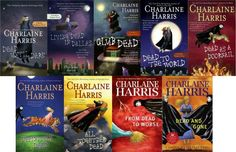sookie stackhouse books~didn't think I'd like this series, but I really did!!