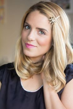 4 ways to style embellished bobby pins