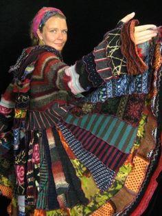 Katwise coat dress #bohemian #boho #gypsy #clothes #fashion #rainbow