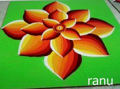 3d rangoli Rangoli Designs Simple Diwali, Indian Rangoli Designs, Rangoli Designs Latest, Rangoli Designs Flower, Free Hand Rangoli Design, Small Rangoli Design, Rangoli Patterns, Colorful Rangoli Designs, Flower Rangoli