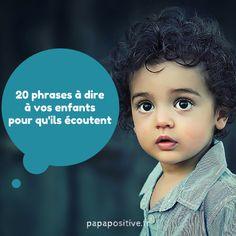 20 phrases à dire à vos enfants pour