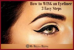 Wing an Eyeliner in 3 easy steps.  Click to learn more at our #bellablog