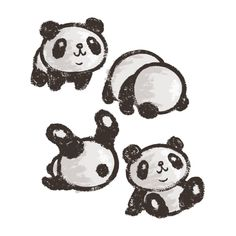 How to Draw A Panda - Easy Drawings & Sketches Cute Cartoon Panda Cartoon Panda, Cute Cartoon, Panda Drawing Easy, Panda Sketch, Cute Sticker, Sticker Ideas, Easy Drawings Sketches, Art Drawings, Panda Art