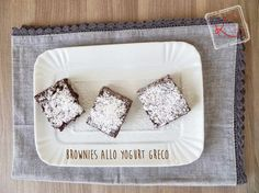 Brownies yogurt greco Si sciolgono in bocca...
