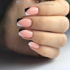 french nails ideas Style in 2020 French Nails, Gel Nail Art Designs, Nagellack Design, Classic Nails, Manicure E Pedicure, Hot Nails, Best Acrylic Nails, Types Of Nails, Square Nails