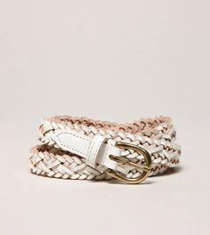 AEO Skinny Braided Belt