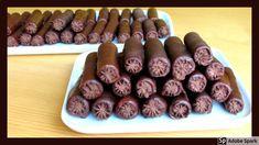 Čokoládové trubičky s pařížskou šlehačkou. Sausage, Cookies, Meat, Ethnic Recipes, Food, Youtube, Crack Crackers, Eten, Cookie Recipes