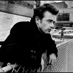 """"""" James Dean photographed by Dennis Stock in New York City, """" Gjon Mili, Hollywood Actor, Hollywood Stars, Old Hollywood, Marlon Brando James Dean, Dennis Stock, Photos Encadrées, Pictures, Rebel Without A Cause"""
