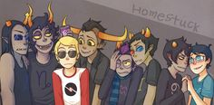 Homestuck guys! ❤️❤️ lol John and Karkat