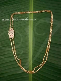 Retta pattai Traditional India Long Chain White Stone Mugappu Side Pendants for Sarees - Buy online Jewelry Sets, Jewelry Necklaces, Gold Necklace, Chain Jewelry, Necklace Set, Jewelry Stores, Gold Earrings, Gold Jewelry Simple, Gold Wedding Jewelry