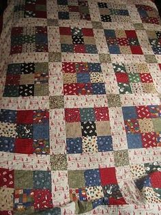 9 patch Christmas fabric
