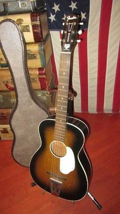 Vintage 1960s Fender small bodied parlor guitar