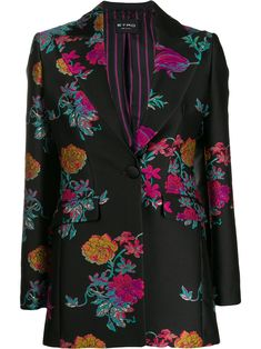 NWT Womens Size Large Jacket Floral Who What Wear Black MSRP 39.99