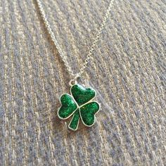 """St Patrick's Day Shamrock Necklace At its longest 19"""" chain, shortest is 17"""". Fashion jewelry Avon Jewelry Necklaces"""