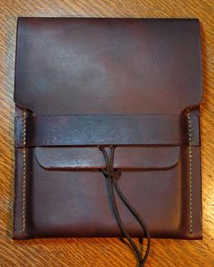 Natural leather iPad Mini case. by MuleSkinnerBags MXS