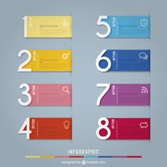 Colorful banners infographic Free Vector