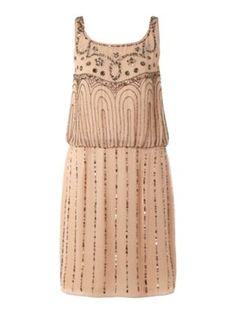 Untold Beaded pattern sleeveless dress Blush - House of Fraser