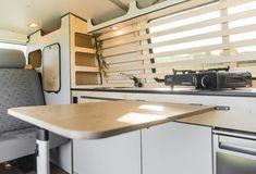 """VW / """"Second Home - Wood´n`White"""" Level Furniture line for the specialist . - VW / """"Second Home – Wood´n`White"""" Level Furniture line for professional self-constructio - Vw Bus T3, Vw T4, Volkswagen Bus, Vw T5 Interior, Campervan Interior, T4 Camper, Mini Camper, Vans Vw, Mercedes Camper"""
