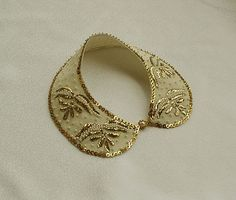 Gold Embroidered Collar Necklace Vintage Style Hand by aynurdereli, $67.00