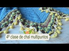 Como hacer chal en crochet multipuntos |4º clase |ganchillo facil - YouTube