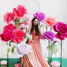 #большиебумажныецветы