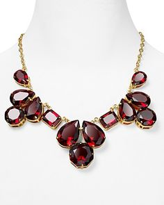 kate spade new york Coated Setting Bib Necklace, 20"