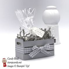 Welcome with a Smoky Slate Wood Crate Full of Goodies - https://stampcandy.net/boxes-2/smoky-slate-crate-welcome/