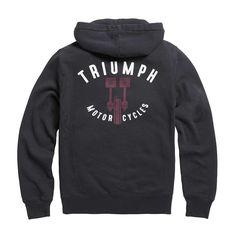 Triumph Piston Zip Hoodie - Black Triumph Motorcycle Clothing, Motorcycle Outfit, Triumph Motorcycles, Hooded Sweatshirts, Hoodies, Zip Hoodie, Black Sweaters, Black Hoodie, Zip Ups