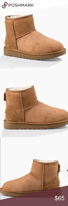 Ugg classic II boot mini Chestnut colored, some creasing on front and 1 unnoticeable water stain. Make offers! UGG Shoes Ankle Boots & Booties