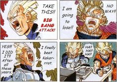 I actually never thought Vegeta will win one day till they played video games