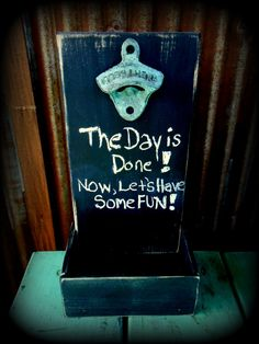 Beer Bottle Opener and Cap Catcher Chalkboard by TheHenryHouse