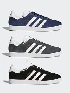 new products a2d92 2e9ee Adidas Originals Gazelle OG Mens Black Stylish Classic Athletic Trainers