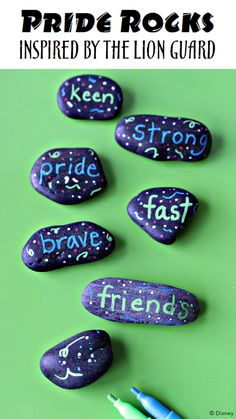 Pin now - try later! Show your pride and determination by writing it down and creating a beautiful reminder of what these words mean to you. Just like the members of The Lion Guard, you are brave, strong and fast! Catch the series premiere this Friday morning.