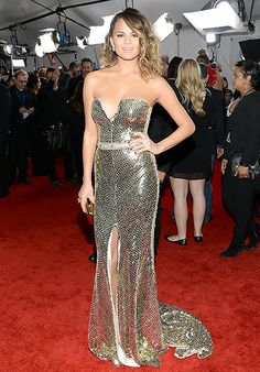 Chrissy Teigen: 2014 Grammy Awards