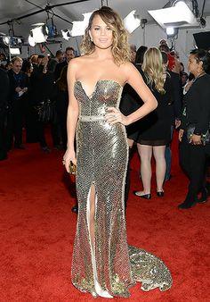Chrissy Teigen: 2014 Grammy Awards