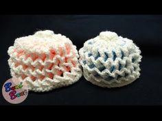 CROSETAT -  Caciulita model 3 D(3 D hat pattern)
