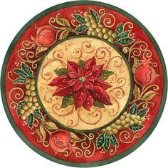 Christmas Poinestta plate