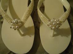 diy wedding flip flops