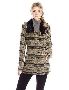 Miss Me Women's Boucle Faux Fur Lined…
