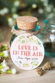 Marijuana Wedding Favors from www.evermine.com