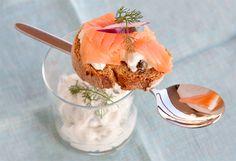 Ricetta Bruschetta con salmone e crème fraîche - Labna