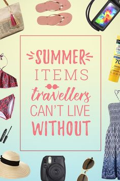 Summer Packing List - All You Ever Need for Every Beach Holiday! Summer Packing Lists, Packing List Beach, Packing List For Travel, Packing Tips, Cheap Beach Vacations, Summer Vacations, Travel Gadgets, Travel Hacks, Student Travel