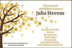 @Meghan Martin Windy Autumn Tree Invitation