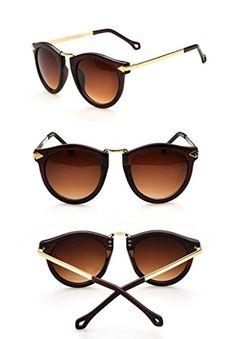 FUNOC-Retro-Vintage-Fashion-Unisex-Round-Arrow-Style-Metal-Frame-Sunglasses-Eyewear-0-1