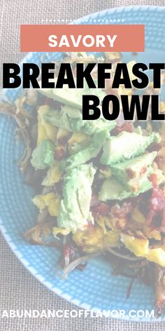 Savory breakfast bowl to make your brunch pop. Spice up your leftovers with fresh ingredients to create a unique take on your meal. Savory Breakfast, Breakfast Bowls, Breakfast Ideas, How To Cut Avocado, Savory Rice, Cheesy Grits, Ripe Avocado, Lunch Menu, Morning Food