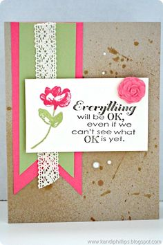 Everything will be ok - Stampin' Up! card, Oh Hello and Really Good Greetings stamp sets