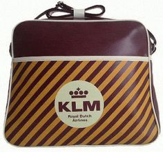 klm royal dutch airlines flight bag